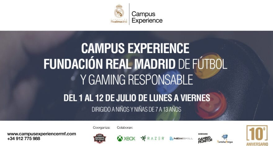 Campus Experience Fundación Real Madrid de Fútbol y Gaming Responsable